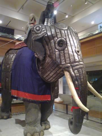 Fully armoured war elephant